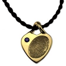 Petite Heart 18k Gold Print Keepsake