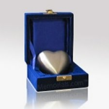 Pewter Heart Keepsake Cremation Urn
