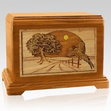 Pheasant Mahogany Hampton Cremation Urn