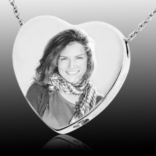 Photo Heart Cremation Pendant III