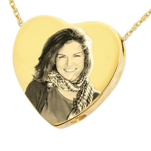 Photo Heart Cremation Pendant IV