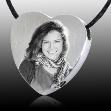 Photo Heart Cremation Pendant