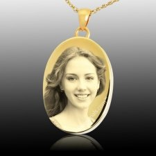 Photo Oval Cremation Pendant IV