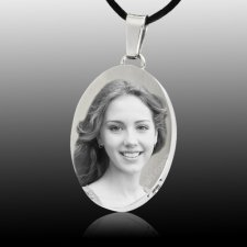 Photo Oval Cremation Pendant