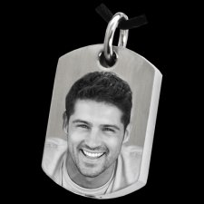 Photo Tag Cremation Pendant
