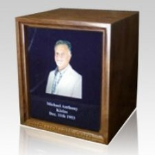 Photo Walnut Wood Cremation Urn