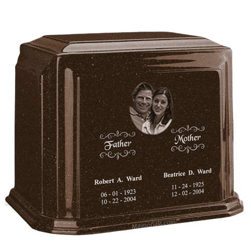 Picture Chocolate Marble Urn For Two
