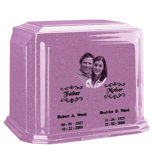 Picture Lavender Marble Urn For Two
