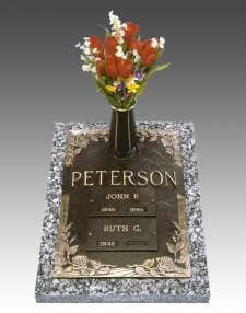 Rose Companion Cremation Grave Marker