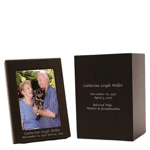 Picture Wood Cremation Urns