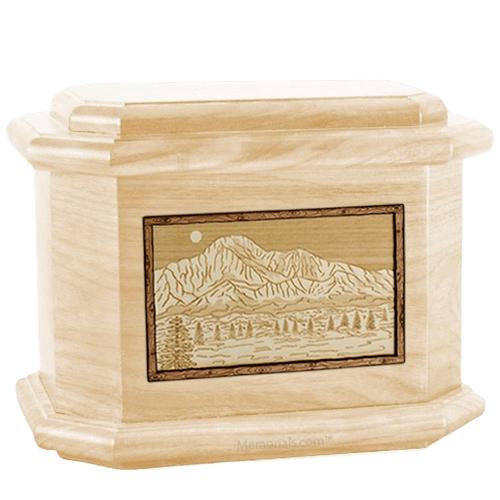 Pikes Peak Maple Octagon Cremation Urn