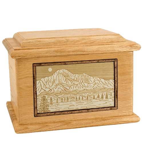 Pikes Peak Oak Memory Chest Cremation Urn