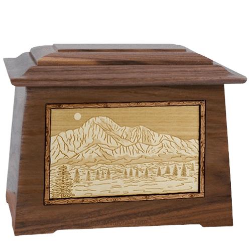 Pikes Peak Walnut Aristocrat Cremation Urn