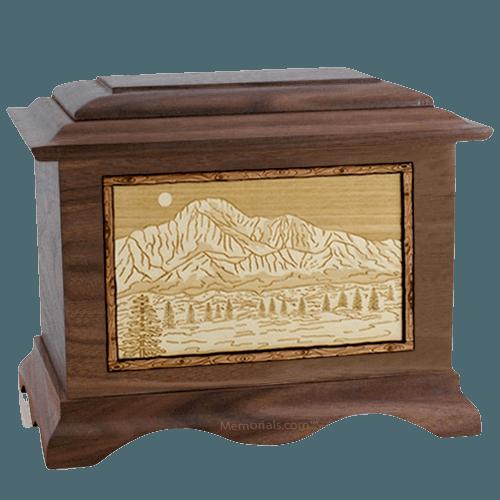 Pikes Peak Walnut Cremation Urn