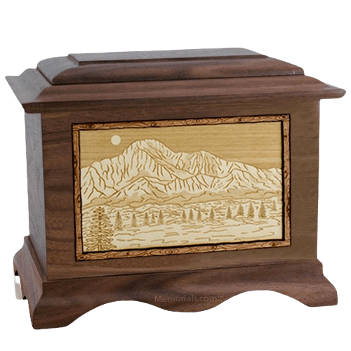 Pikes Peak Wood Cremation Urns