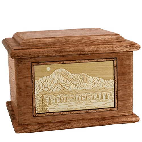Pikes Peak Walnut Memory Chest Cremation Urn
