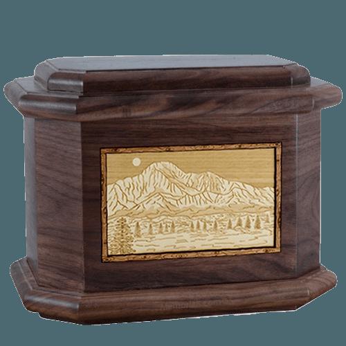 Pikes Peak Walnut Octagon Cremation Urn