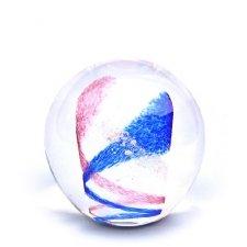 Pink & Ocean Blue Swirl Medium Memory Glass Keepsake