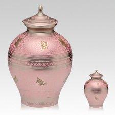 Pink Butterflies Cremation Urns