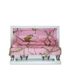 Pink Camo Small Child Casket