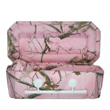 Pink Camouflage Small Child Casket