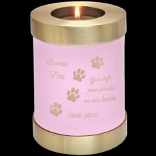 Pink Candle Pet Keepsake Cremation Urn