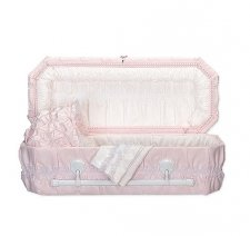 Pink Carriage Small Child Casket