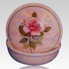 Pink Ceramic Keepsake Urn