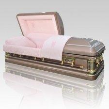 Pink Champagne Steel Casket