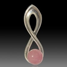 Pink Eternity Cremation Ash Pendant