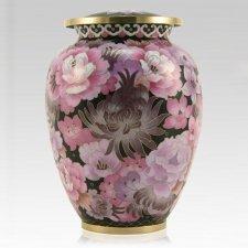 Pink Flowers Elite Cloisonne Urn