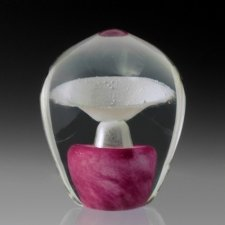 Pink Geyser Glass Cremation Keepsakes
