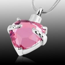 Pink Heart Cremation Jewelry