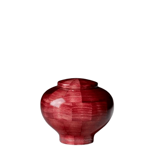Pink Keepsake Wood Urn