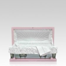 Pink Large Metal Pet Casket