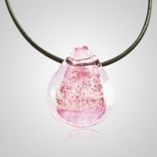 Pink Memory Glass Pendants