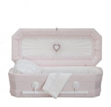 Pink Ray Small Child Casket
