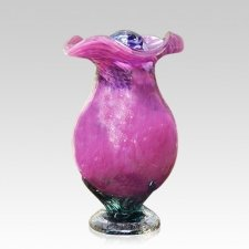 Pink Rose Glass Cremation Urns
