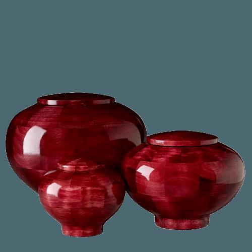 Pink Wood Cremation Urns