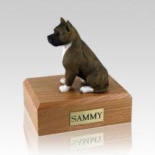 Pit Bull Brindle & White X Large Dog Urn