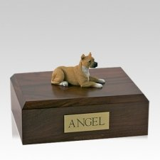 Pit Bull Tan Large Dog Urn