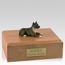 Pit Bull Terrier Brindle Laying X Large Dog Urn