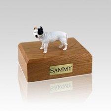 Pit Bull Terrier White Medium Dog Urn