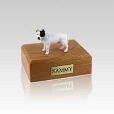 Pit Bull Terrier White Small Dog Urn