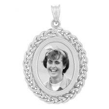 Plait Silver Etched Pendant