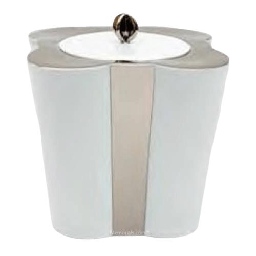 Platinum Floral Porcelain Urn