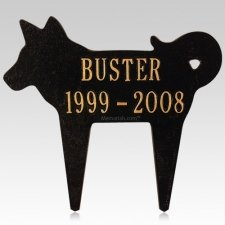 Playful Dog Pet Memorial Plaque