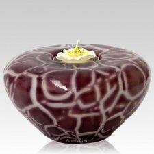 Plum Candle Glass Pet Urn