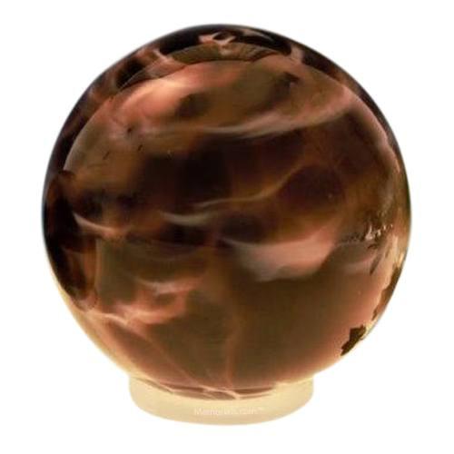 Plum Orb Glass Pet Urn