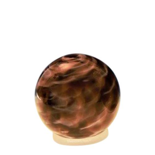 Plum Orb Small Glass Pet Urn